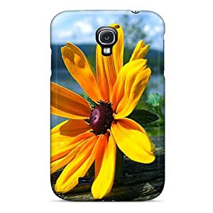 Awesome IpysRJw5186lzcaT Mialisabblake Defender Hard Case Cover For Galaxy S4- Flower
