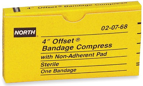 (North by Honeywell 020768 Bandage Compress, 4-Inch OFFSET, 1 per)