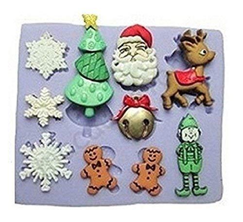 Arco Abeto Pap/á Noel mu/ñeco de Nieve /árbol Inception Pro Infinite Molde de Silicona para Accesorios artesanales navide/ños Navidad
