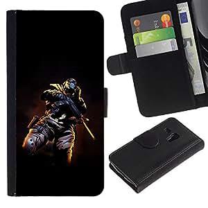 All Phone Most Case / Oferta Especial Cáscara Funda de cuero Monedero Cubierta de proteccion Caso / Wallet Case for Samsung Galaxy S3 MINI 8190 // Skull Masked Terrorist