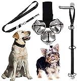 Notable Dog Doorbells Premium Quality Doggie Doorbell - Puppy Door Bell - Doggy DoorBells, Ideal for Puppies Potty Training, Housetraining, Housebreaking, Adjustable Length 1.4 Inch, with Dog Whistle