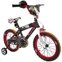 Mattel Dynacraft Hot Wheels Bicicleta de Calle BMX para niños con Freno de Mano de 16 Pulgadas, Color Negro/Rojo/Naranja