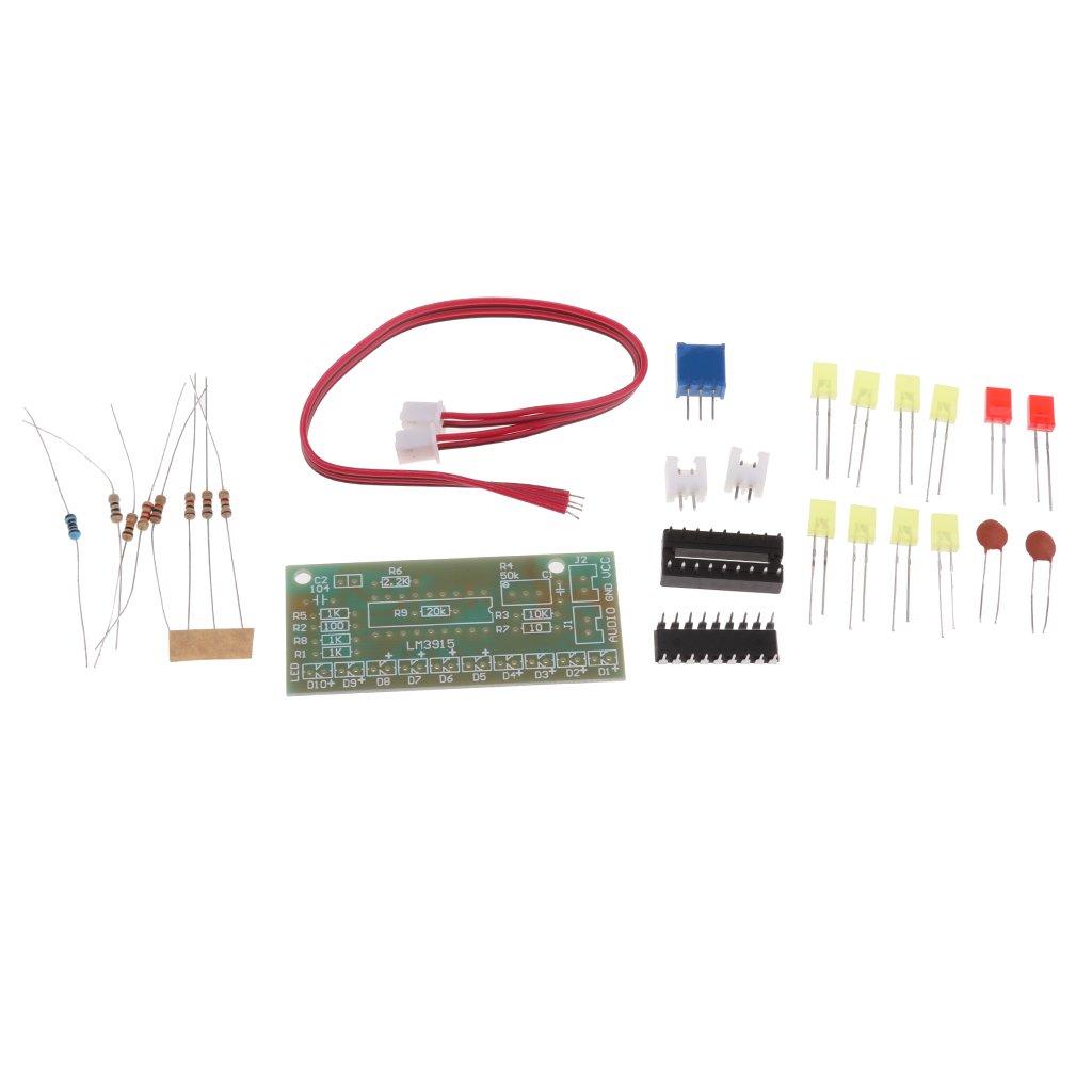 Sharplace Lm3915 Dc9v 12v Funny 10 Segment Audio Level Circuit Electronics