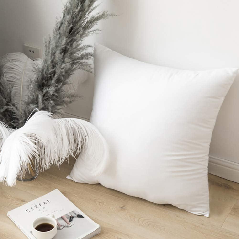 Emolli Throw Pillow Inserts Set of 2, Throw Pillow Inserts Premium Stuffer Down Alternative,Super Soft Microfiber Filled Decorative Pillow Cushion, 18 x 18 Inches: Home & Kitchen