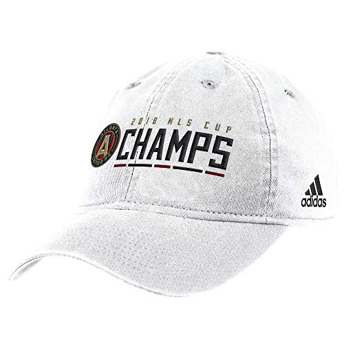adidas Atlanta United FC 2018 MLS Cup Champions White Slouch Adjustable Hat/Cap