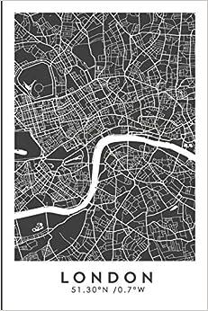 London  51.30ºn /0.7ºw: Designed In Barcelona, Travel Journal Notebook, Bullet Journal Book, Diary, Memoir, Sketchbook, Travel Writing, Bujo, Dot Grid, Travel Planner, City Map, Epub Descarga gratuita