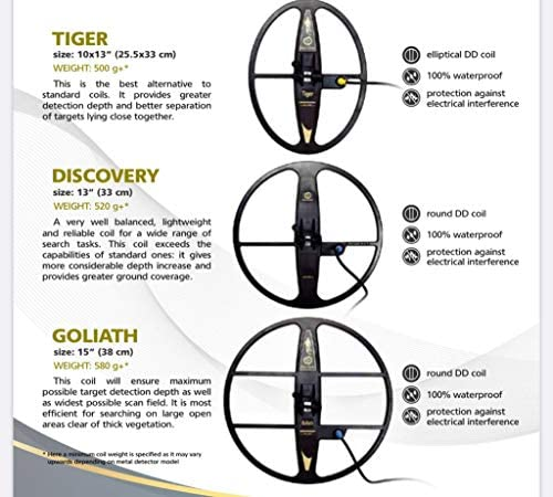 "Mars MD Goliath 15/"" DD Waterproof Search Coil For Garrett GTI 2500"