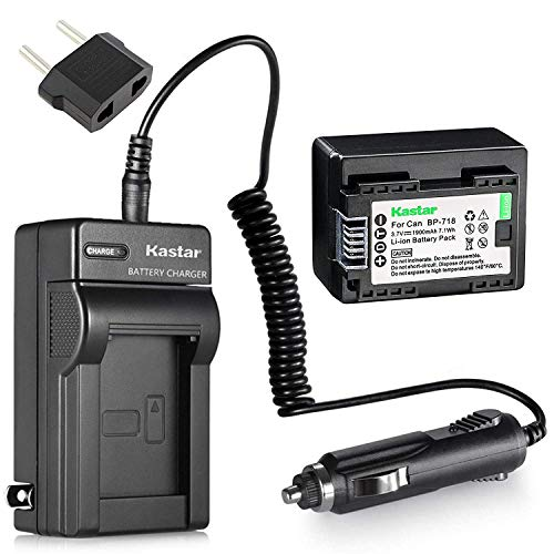 Kastar Battery 1-Pack and Charger for Canon BP-718 BP-727BP-709 CG-700 and VIXIA HF M50 HF M52 HF M500 HF R30 HF R32 HF R40 HF R42 HF R50 HF R52 HF R60 HF R62 HF R300 HF R400 HF R500 HF R600 from Kastar