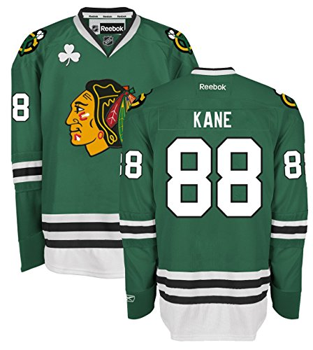 Patrick Kane Chicago Blackhawks Green Premier Jersey by Reebok X-large