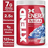Xtend Energy Bcaa Powder Blue Raspberry | 125mg Caffeine + Sugar Free...