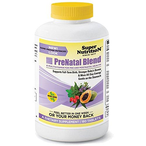 Super Nutrition, PreNatal Blend, 180 Tablets - 3PC (Super Prenatal Nutrition)