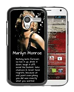 Personalized Motorola Moto X With Marilyn Monroe Nothing Last Forever Black Customized Photo Design Motorola Moto X Phone Case