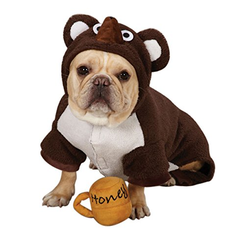 [Zack & Zoey Polyester Lil Honey Bear Dog Costume, Small, Brown] (Bear Dog Costume)