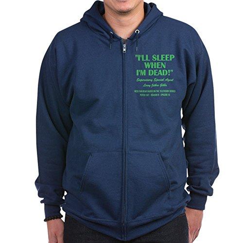 CafePress - I'll Sleep When I'm Dead! - Zip Hoodie, Classic Hooded Sweatshirt with Metal Zipper Navy