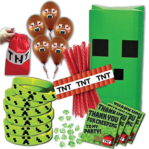 Miner Themed Birthday Party Supply Pack for 14 Guests by Pixel -