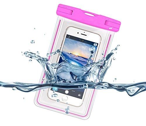 "NEWELLâ""¢ Universal Waterproof Snowproof Dirtproof Case Bag for iPhone 6/6s, 5s, 5, 5c, 4s, Samsung, HTC, LG, Nexus, Sony Xperia, Motorola and other Smartphone (Pink)"