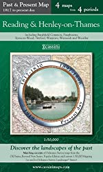 Reading & Henley-on-Thames (PPR-REH): Four Ordnance Survey Maps from Four Periods from Early 19th Century to the Present Day (Cassini Past and Present Map)