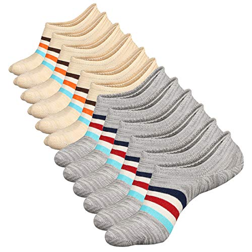 No Show Socks Women Non Slip Low Cut Cotton Liner Sports Casual Socks 6 Pairs (No Show Socks That Don T Slip)