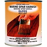 System Three 1850S16 Clear Marine Spar Urethane Varnish Coating, 1 quart Can by System Three