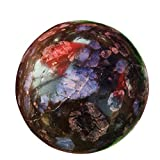 DingSheng 4.5-5cm Natural Glaucophane Sphere Quartz Crystal Ball Wicca, Angel Chakra Healing Massage Home Decoration Gift &Free Wood Stand & Pouch