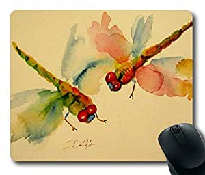 Colorful Dragonflies Beautiful Art POP Masterpiece Limited Design Oblong Mouse Pad by Cases & Mousepads by runtopwell