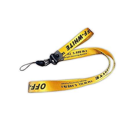 c0bcdfe659ef2b Amazon.com  Off White Yellow Industrial Belt Photo Camera Strap ...