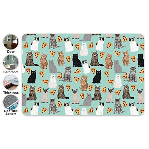 Ibo Pattern - Guakes Pizza Cats Pattern for Cat Lover Pet Friendly Custom Pet Super Soft Indoor Modern Area Rug Silky Smooth Fluffy Rugs Anti-Skid Dining Room Home Bedroom