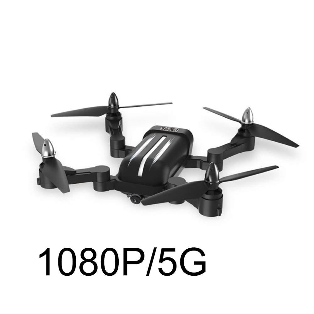 ERKEJI Drohne Fernbedienung Zusammenklappbare vierachsige Flugzeuge Pneumatische Feste Höhe Spielzeugflugzeug 1080P Echtzeitübertragung Luftbild WiFi FPV GPS