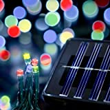 Saffron Solar Holiday Christmas Lights, Indoor/Outdoor, 70ft, 200 LED, Multicolor