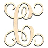 Back40Life Laser Cut Vine Wood Monogram Letter - 13-inch unfinished C