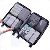 8 Set Packing Organizer,Travel Luggage Waterproof Mesh Packing Cubes with Shoes Bag