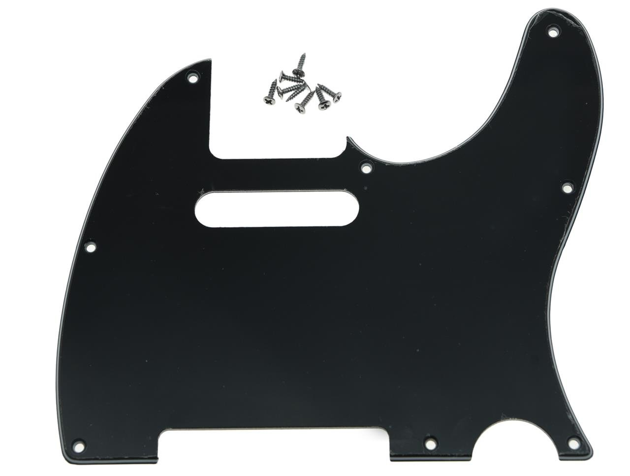 KAISH 8 Hole Tele Guitar Pickguard Scratch Plate fits USA/Mexican Fender Telecaster Black 3 Ply