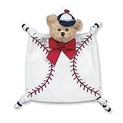 Bearington Baby Wee Lil' Slugger Plush Teddy Baseball Security Blankie, Lovey 8  x 7