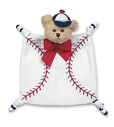 Lil' Slugger Plush Teddy Baseball Security Blankie, Lovey 8