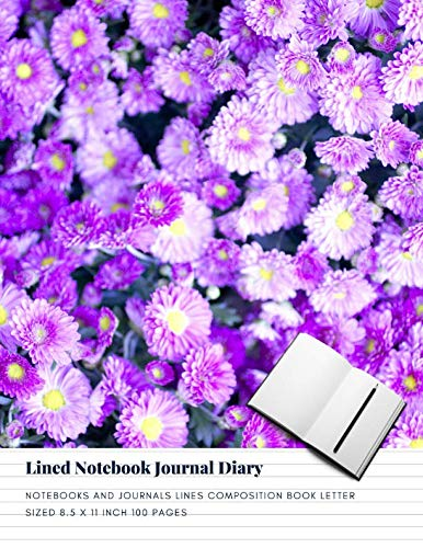 Lined Notebook Journal Diary: Notebooks And Journals Lines Composition Book Letter sized 8.5 x 11 Inch 100 Pages (Volume 46) (Composition Locking Book)
