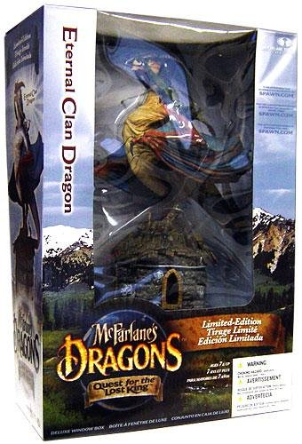 McFarlane Toys Dragons Series 1 Re-Paint Deluxe Action Figure Limited Edition Boxed Set Eternal Clan Dragon