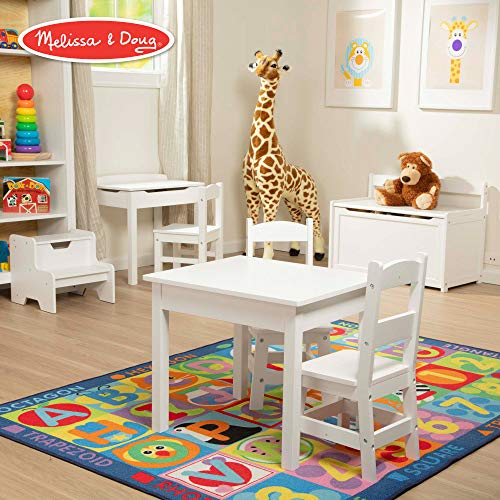 Chairs Lego Table - Melissa & Doug Wooden Chair Pair - White Children's Furniture