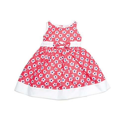 Floral/Polka Dot Dress - Print Back Tie Baby Doll