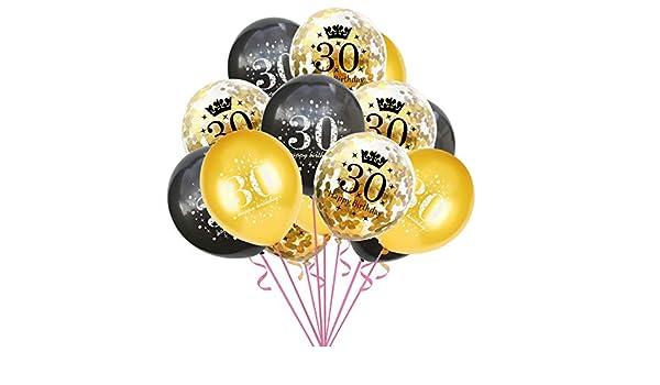 16 18 30 40 50 60 años Decoración de confeti de globos para ...
