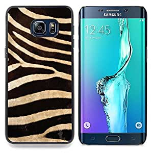 "Planetar ( Modelo de la cebra Wallpaper Diseño Textil"" ) Samsung Galaxy S6 Edge Plus / S6 Edge+ G928 Fundas Cover Cubre Hard Case Cover"