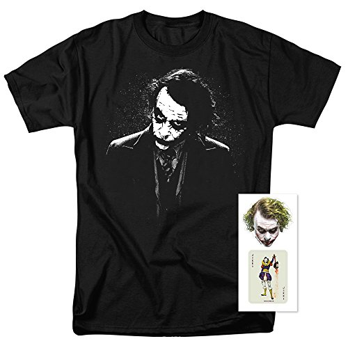 Popfunk The Dark Knight Heath Ledger Dark Joker T Shirts (Large)