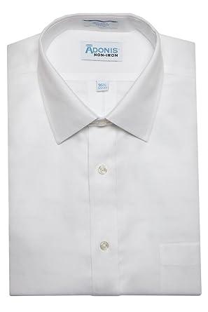 Adonis Shirts Inc. Men's Non Iron Royal Oxford Barrel Cuff Dress ...