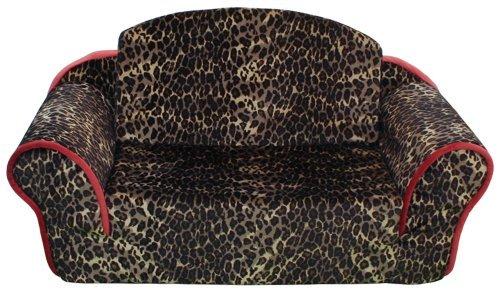 Pet Flys Sleeper Sofa - Leopard Print with Sangria Trim & Interior by Pet Flys