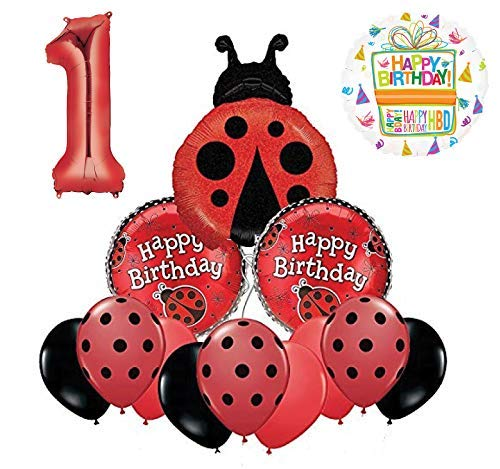 Mayflower Products Ladybug 1st Birthday Party Supplies Balloon