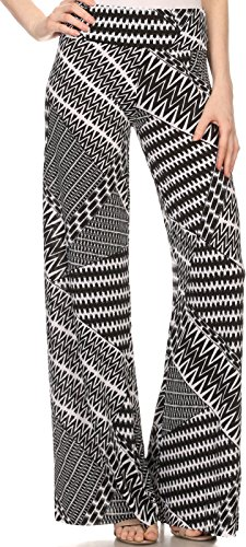 Sakkas Mikaela Spring/Summer Print Wide Leg Spandex Palazzo Pant