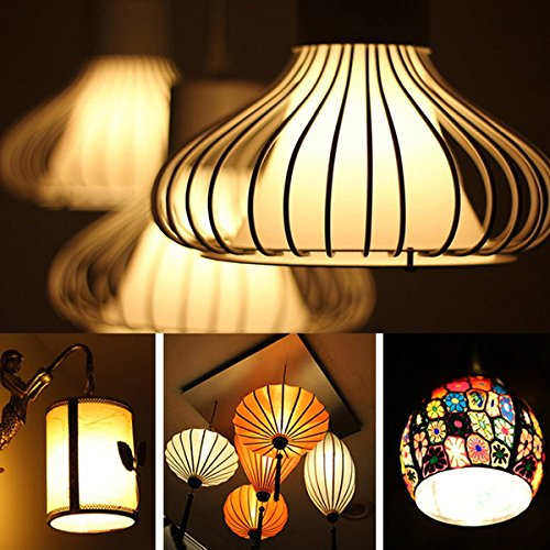 8Pack Edison Light Bulb Vintage Incandescent Chandelier Light Bulbs 60W 110-130V Bent Flame Tip Light Bulb with Candelabra Base (E12) Home Light Fixtures Decorative, Dimmable Warm White Spiral Filame by lingruiyi83 (Image #6)