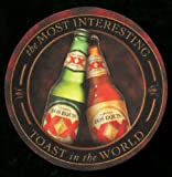 Dos Equis Cerveza coaster set - Mexican Beer Tray -  Most Interesting Man - XX