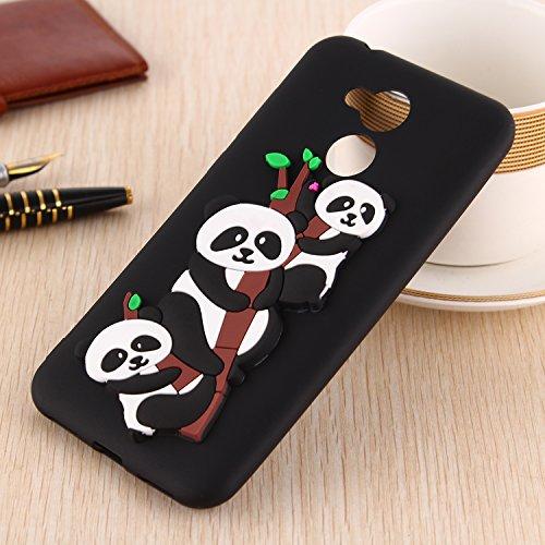 Funda para Huawei Honor 6A , IJIA Puro Rojo Adorable Panda TPU Silicona Suave Cover Tapa Caso Parachoques Carcasa Cubierta Teléfono De Vuelta Shell Case para Huawei Honor 6A (5.0) Black