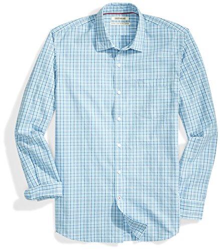 Fit Blue Stripe - Goodthreads Men's Standard-Fit Long-Sleeve Multi Stripe Plaid Shirt, Blue/Blue, X-Large