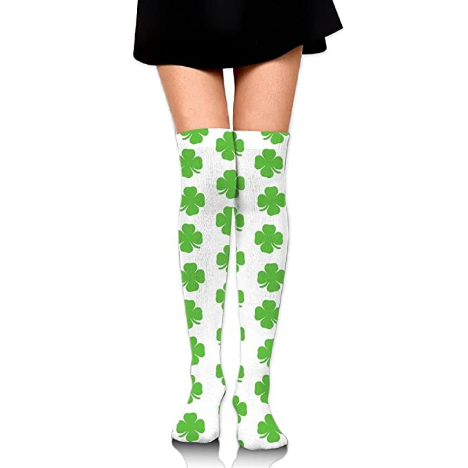 a8a0eb453a6 Amazon.com  Green Clover Elements Over The Knee Long Socks Tube Thigh-High  Sock Stockings For Girls   Womens  Clothing